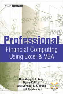 Professional Financial Computing Using Excel and VBA, Hardback Book