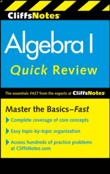 CliffsNotes Algebra I Quick Review: 2nd Edition, Paperback / softback Book