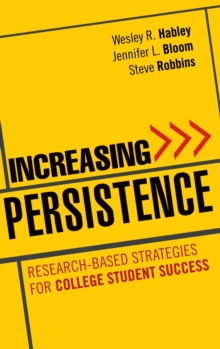 Increasing Persistence : Research-based Strategies for College Student Success, Hardback Book