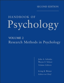 Handbook of Psychology : Research Methods in Psychology, Hardback Book