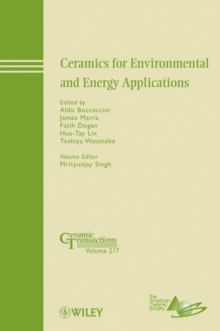 Ceramics for Environmental and Energy Applications, Hardback Book