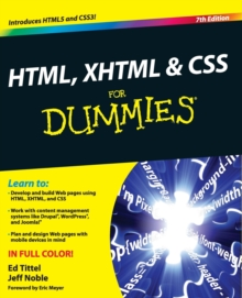 HTML, XHTML and CSS For Dummies, Paperback / softback Book