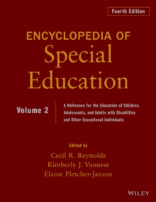 Encyclopedia of Special Education, Volume 2 : A Reference for the Education of Children, Adolescents, and Adults Disabilities and Other Exceptional Individuals, Hardback Book