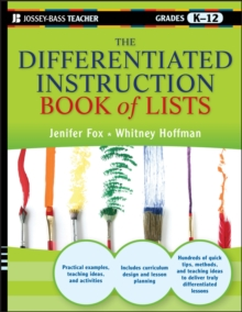The Differentiated Instruction Book of Lists, Paperback / softback Book