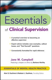 Essentials of Clinical Supervision, Paperback Book