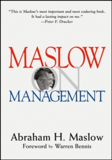 Maslow on Management, Hardback Book
