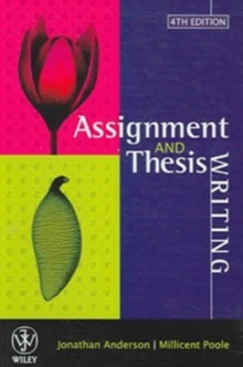 Assignment & Thesis Writing, Paperback / softback Book