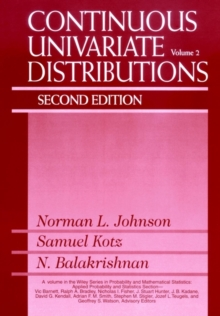 Continuous Univariate Distributions, Volume 2, Hardback Book