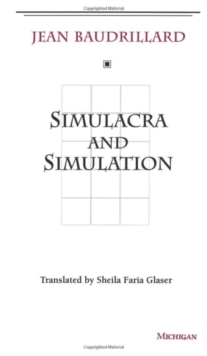 Simulacra and Simulation, Paperback Book