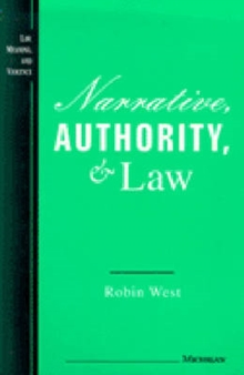 Narrative, Authority and Law, Hardback Book