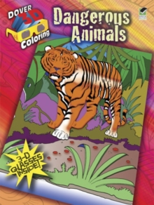 3-D Coloring Book--Dangerous Animals, Paperback Book