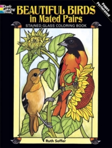 Beautiful Birds in Mated Pairs Stained Glass Coloring Book, Paperback Book