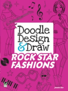 Doodle Design & Draw Rock Star Fashions, Paperback Book
