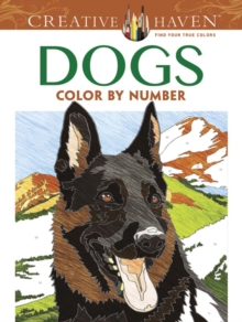 Creative Haven Dogs Color by Number Coloring Book, Paperback / softback Book