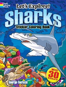 Let's Explore! Sharks Sticker Coloring Book, Paperback / softback Book