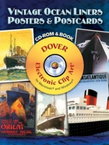 Vintage Ocean Liners Posters and Postcards, Mixed media product Book