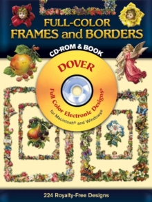 Full-Color Frames and Borders CD-ROM and Book, Paperback / softback Book