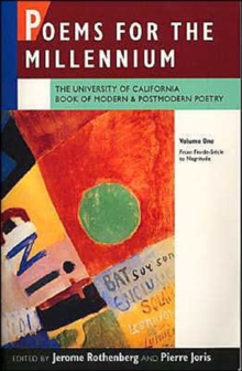 Poems for the Millennium : Poems for the Millennium From Fin-de-Siecle to Negritude v. 1, Paperback / softback Book