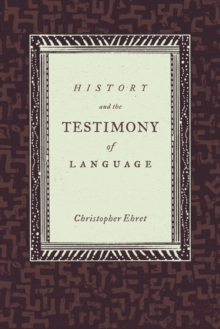History and the Testimony of Language, Paperback / softback Book
