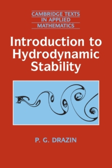 Introduction to Hydrodynamic Stability, Paperback / softback Book