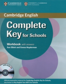Complete Key for Schools Workbook with Answers with Audio CD, Mixed media product Book
