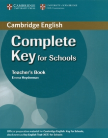 Complete : Complete Key for Schools Teacher's Book, Paperback / softback Book
