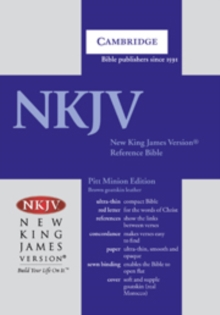 NKJV Pitt Minion Reference Edition NK446XR Brown Goatskin Leather, Leather / fine binding Book