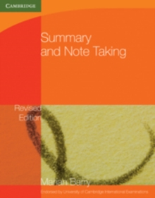 Summary and Note-Taking, Paperback Book
