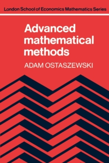 Advanced Mathematical Methods, Paperback / softback Book