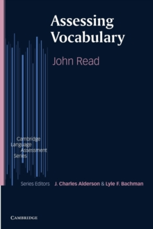 Assessing Vocabulary, Paperback Book