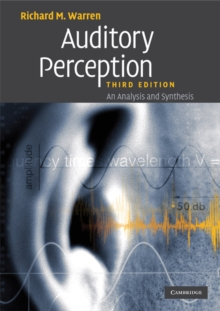 Auditory Perception : An Analysis and Synthesis, Paperback / softback Book
