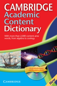 Cambridge Academic Content Dictionary Reference Book with CD-ROM, Mixed media product Book