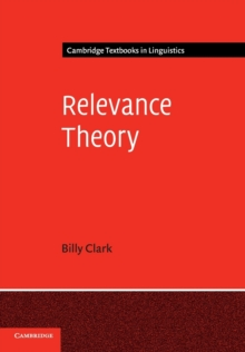 Relevance Theory, Paperback / softback Book