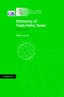 Dictionary of Trade Policy Terms, Paperback / softback Book