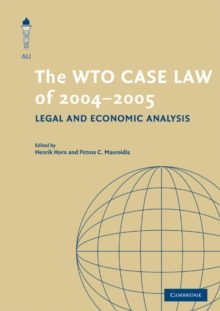 The WTO Case Law of 2004-5, Paperback / softback Book