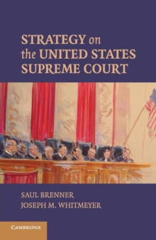 Strategy on the United States Supreme Court, Paperback Book