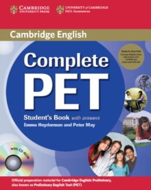 Complete PET Student's Book Pack (Student's Book with Answers with CD-ROM and Audio CDs (2)), Mixed media product Book