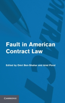 Fault in American Contract Law, Hardback Book