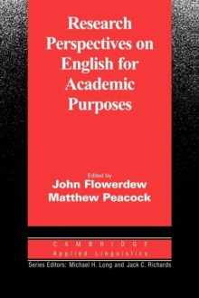 Research Perspectives on English for Academic Purposes, Paperback / softback Book