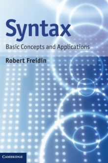 Syntax : Basic Concepts and Applications, Hardback Book