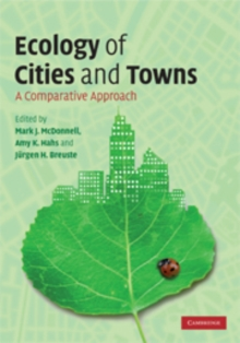 Ecology of Cities and Towns : A Comparative Approach, Hardback Book