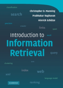 Introduction to Information Retrieval, Hardback Book