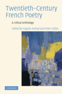 Twentieth-century French Poetry : A Critical Anthology, Hardback Book