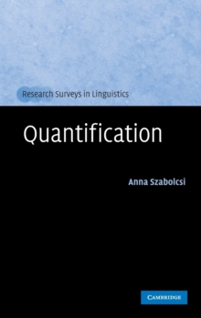 Quantification, Hardback Book