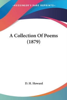 A COLLECTION OF POEMS  1879, Paperback Book