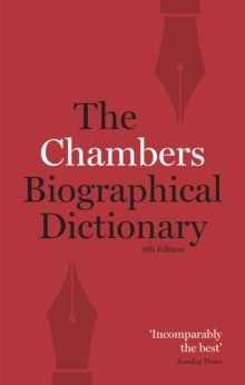 Chambers Biographical Dictionary, Paperback Book