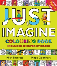 Just Imagine: Colouring Book with Stickers, Paperback Book
