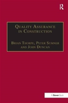 Quality Assurance in Construction, Hardback Book