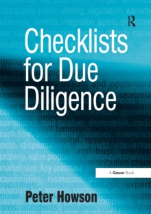 Checklists for Due Diligence, Paperback Book