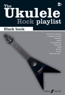 UKULELE PLAYLIST BLACK BOOK ROCK, Paperback Book